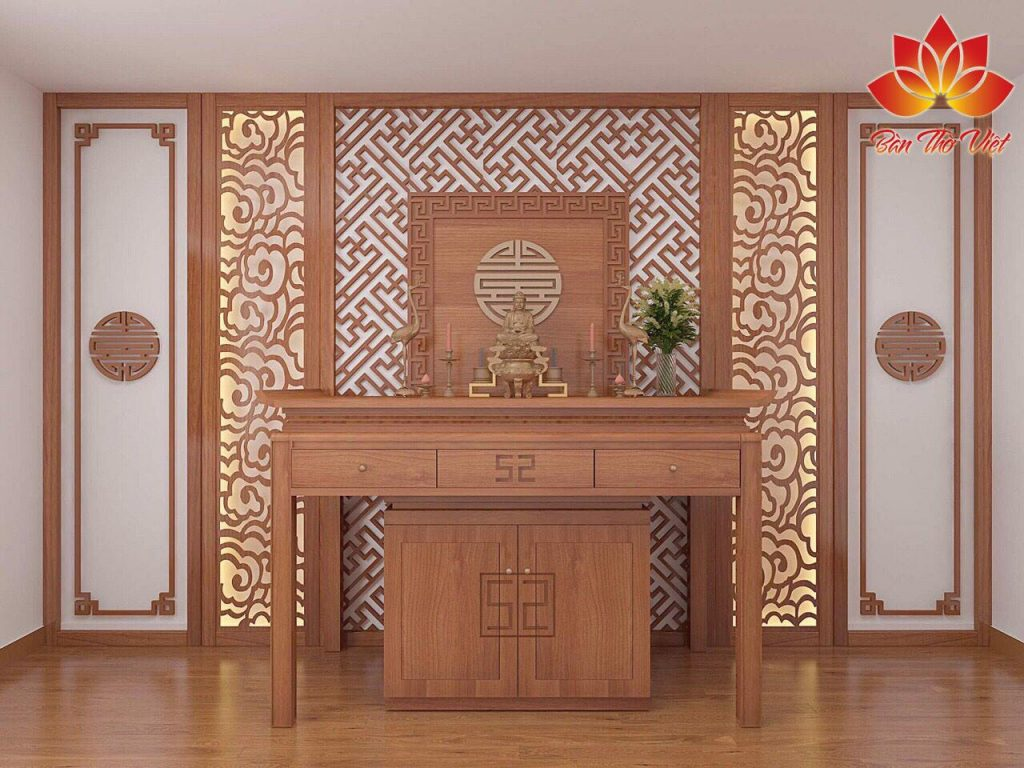 Một số mẫu phòng thờ sang trọng và đẳng cấp nhất năm 2018