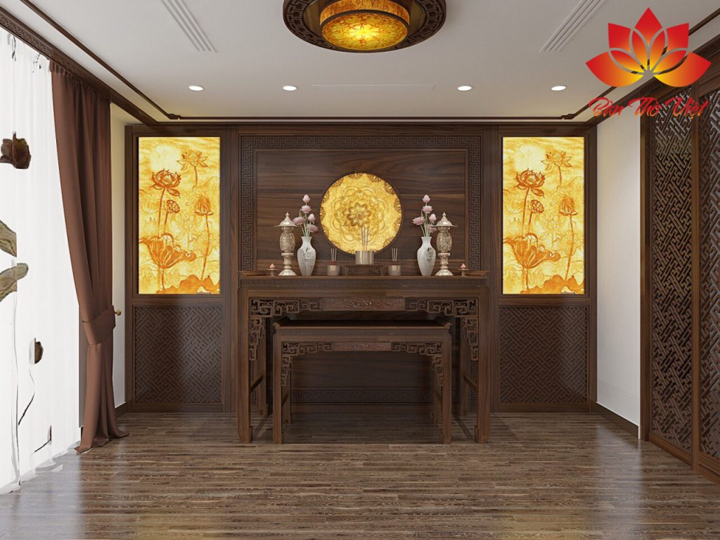 Thiết kế phòng thờ trên sân thượng cho ngôi nhà Việt
