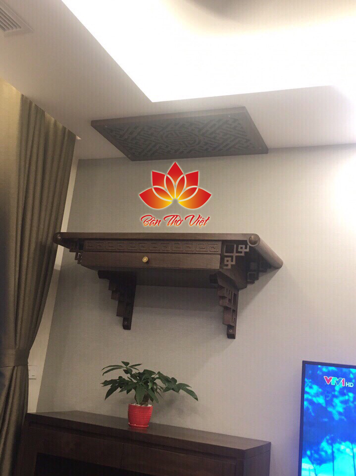 Bàn thờ phòng khách hiện đại, phù hợp với nhiều không gian