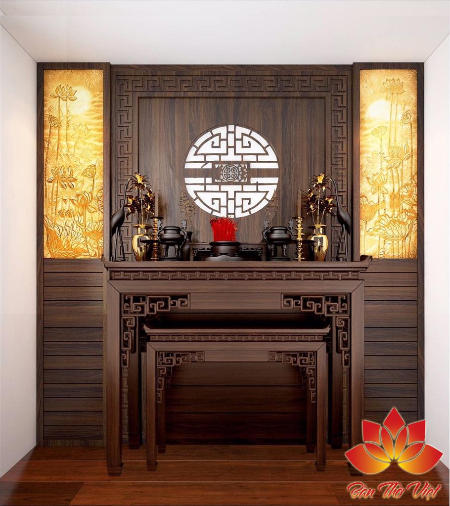 Phòng thờ ở Mê Linh với những thiết kế ấn tượng, sang trọng và hiện đại